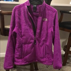 Women's North Face fuzzy purple osito jacket